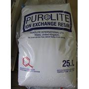Катионообменная смола Purolite C-100 водородная форма, 25 л. фото