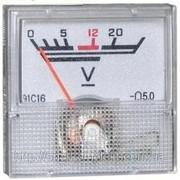 Вольтметр 20В (40х40) фото