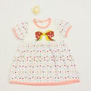Платье детское бант 3871-к-16 кулирная гладь, размер 52-92 фото