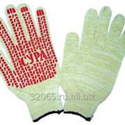 Перчатки с ПВХ 22 размер 7 класс с протектором упаковка (15/210)пар фото