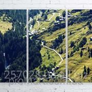 Модульна картина на полотні Зелені гори код КМ100150-057 фото