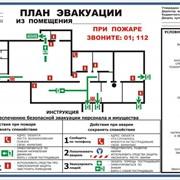 Планы эвакуации по ГОСТу фото