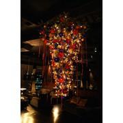 Установка и дизайнерское украшение новогодних живых и искусственных елок фото