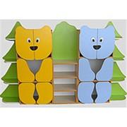 Стеллаж для пособий и игрушек Мишки в лесу № 2 фото