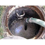 Откачка канализации, выгребных ям фото
