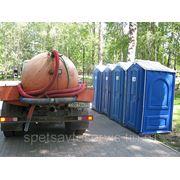 Санитарное обслуживание туалетной кабины фото