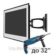 Монтаж телевизора на стену фото