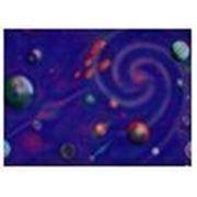 Стандартное флуоресцентное полиэстровое полотно-обои «Космическая спираль» фото