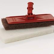 Щетка для гриля с ручкой 1779-7 SB 9537 Red Grill Pad with holder фото