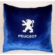 Подушка с логотипом Peugeot фото