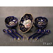 Набор для варенья с розетками из 6шт.+ложки влюбленная пара (637311) фото