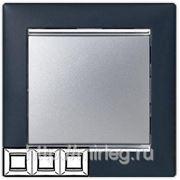 Legrand Valena Рамка 3-я (ноктюрн/серебро) фото