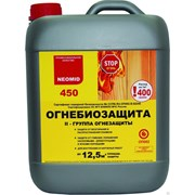 Раствор биопирен огнебиозащитный состав для древесины Neomid 450 готовый, фото