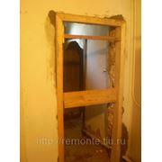 Прорубание проема под двери: в кирпиче (1/2 кирпича)