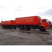 Самосвальный автопоезд-зерновоз(КАМАЗ) б/у фото