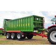 Монолитный сельскохозяйственный прицеп с передвижной стеной Power Push T902, Т-900 (16-23 тонн) фото