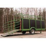 Прицепы для перевозки скота Kurier 6 и 10 фото