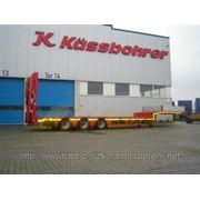 Низкорамный полуприцеп-тяжеловоз KASSBOHRER грузоподъём. 38-54 тонны, от Дилера Немецкого завода. фото