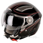 Шлем Nitro NP-100J Drift черный/красный глянцевый М фото