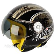 Шлем Nitro X546-AV Blade черный/золотистый глянцевый M фото