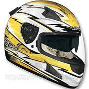 Шлем Vega HD188 Techno желтый/бел. глянцевый M фото