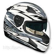 Шлем Vega HD188 Techno серо/белый глянцевый М фото
