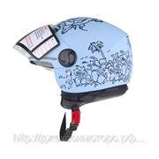 Шлем Vega (открытый со стеклом) HD306 Aloha синий глянцевый (M) фото