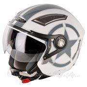 Шлем Nitro NP-100J Heavy белый/серый S фото