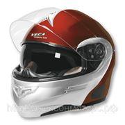 Шлем Vega HD 185 Two Tone краснo-серебристый M фото