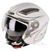 Шлем Nitro NP-100J Drift белый/серебристый глянцевый М фото