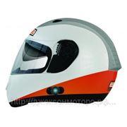 Шлем Origine Vento Triplo оранжевый/белый глянцевый S фото
