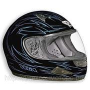 Шлем Vega HD188 Pinstripe синий/черн. матовый (S) фото