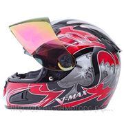 Шлем (интеграл) HD188 Ace красный/черн. глянцевый S фото