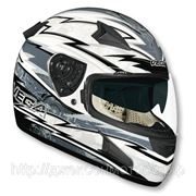 Шлем Vega HD188 Techno серо/белый глянцевый S фото