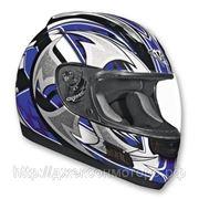 Шлем ALTURA Shuriken сине-черный глянцевый S фото