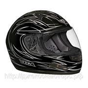 Шлем Vega HD188 Pinstripe серый/черн. матовый (S) фото