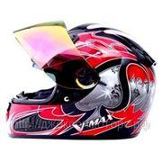 Шлем (интеграл) HD188 Ace красный/черн. глянцевый XL фото