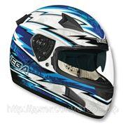 Шлем Vega HD188 Techno сине/белый глянцевый М фото