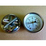 Термометр стрелочный на трубу (пружина) ТБП63Ю/Тр30 (0-120) фото
