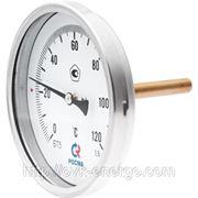 Биметаллический термометр осевой фото