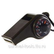Свисток с компасом и термометром фото