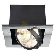 Светильник встраиваемый AIXLIGHT FLAT хром/ черный 154602