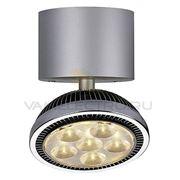 Светильник накладной c 6-ю белыми теплыми POWER LED DOMELED серебристый 147332