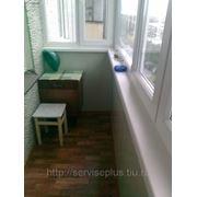 Изготовление и остекление балкона из ПВХ с внутренней отделкой фото