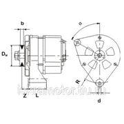 Генератор AAK3322 для BOBCAT, Kubota, двигателей Deutz F1L511, F2L511, (6661611, AC155513) фото