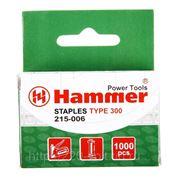 Скобы для степлера Hammer Гвозди 14мм, 1.2 мм, т-образ. (тип300) фото