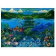 """Стандартное флуоресцентное полиэстровое полотно-обои """"Coral Sea 02 """" фото"""