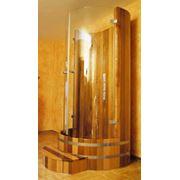 Кабины душевые деревянные фото