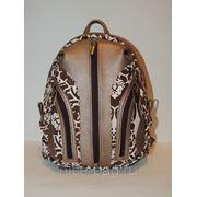 Городской рюкзак из кожи «Латте» фото