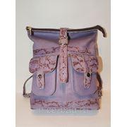 Сумка-рюкзак кожа «Цвет сирени» фото